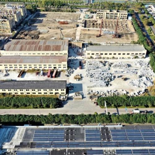 上虞化工园区厂房拍卖:浙江康利新型建材有限公司位于上虞区杭州湾经济技术开发区的工业厂房